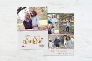 Thanksgiving Card | Sparrow Feathers