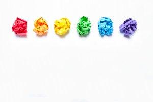 Concept LGBT flag. Rainbow flag