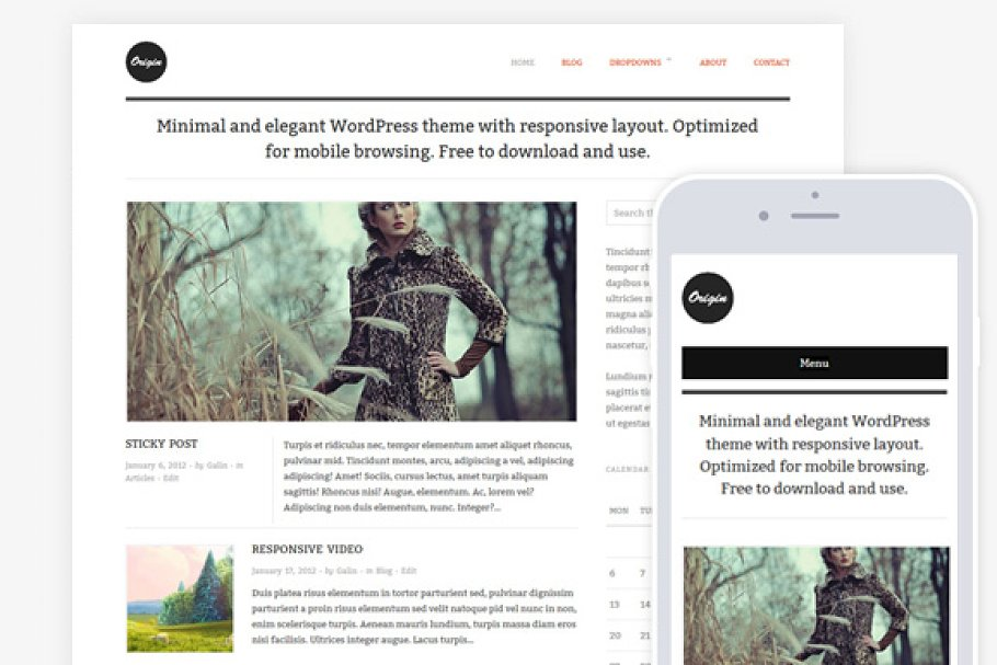Origin / Clean Blog & Magazine Theme