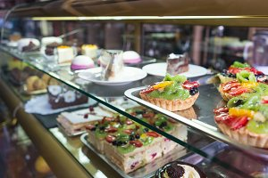 Showcase pastry cafe, shop.