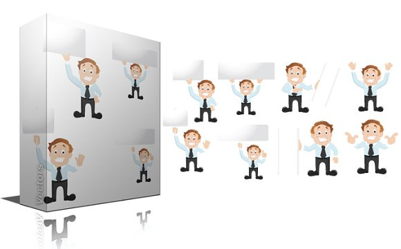 cartoon Salesman Vector
