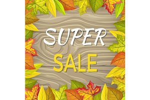 Super Sale Fall Banner