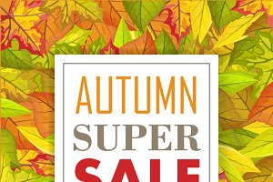 Autumn Super Sale Banner