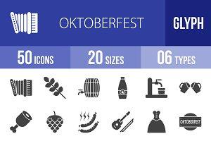 50 Oktoberfest Glyph Icons