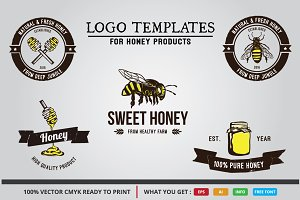 HONEY PRODUCTS LOGO TEMPLATES