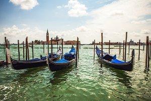 Traditional gondolas.