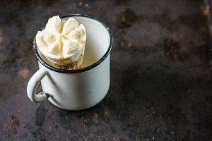 Vintage metallic cup with Ice cream