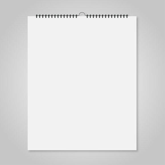 Blank wall calendar product mockups creative market for Four blank walls