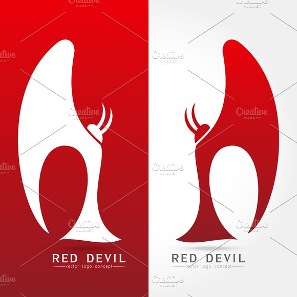 red devil - vector logo concept