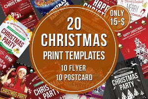 Christmas Flyer & Postcard Bundle