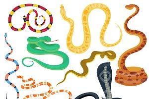 Snake character vector set