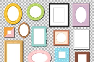 Vector photo frame isolated
