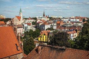 City view of Olsztyn, Poland.