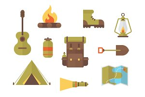Camping & Hiking Vector Clip Art