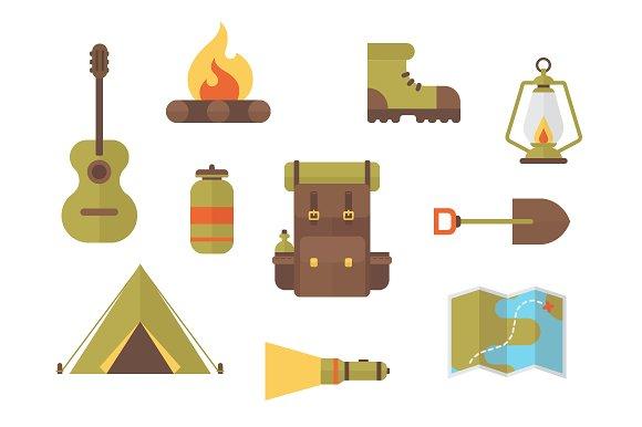 Camping & Hiking Vector Clip Art