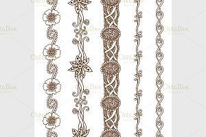 Vector set vintage ornate borders
