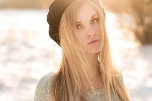 sunny portrait of the blonde
