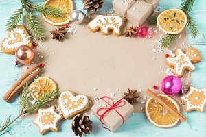 Background Christmas cookies