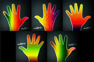 Abstract colorful hand