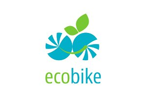 Eco electric bike logo
