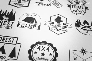 Outdoor Adventures Badges Logos