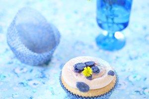 Violet White Chocolate Cupcake