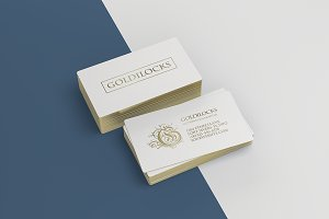 2 Golden Business Cards