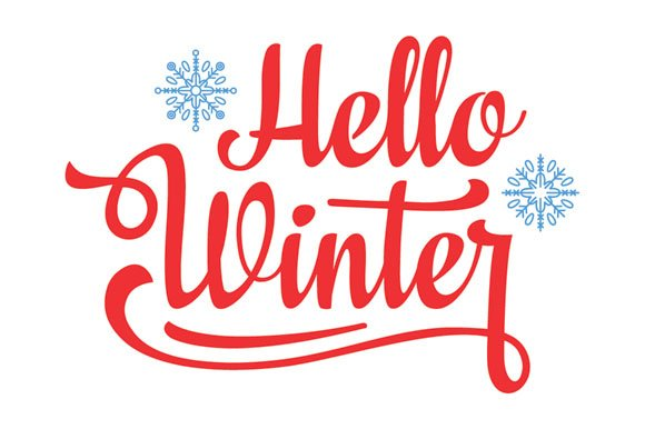 Hello winter. Holiday background - Objects