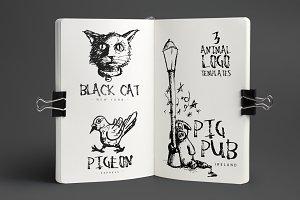 3 Animal Logos