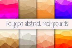Polygon backgrounds JPG and PNG