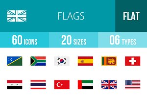 60 Flags Flat Icons