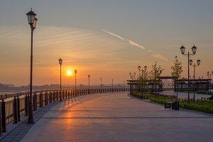 Panoramic view. Kazan city