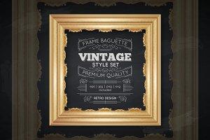 Vintage Frame Baguette Set