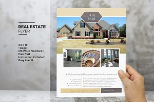 real estate postcard with options flyer templates creative market. Black Bedroom Furniture Sets. Home Design Ideas