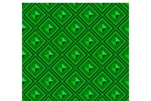 Seamless pattern green abstract shap