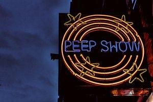 Peepshow sign