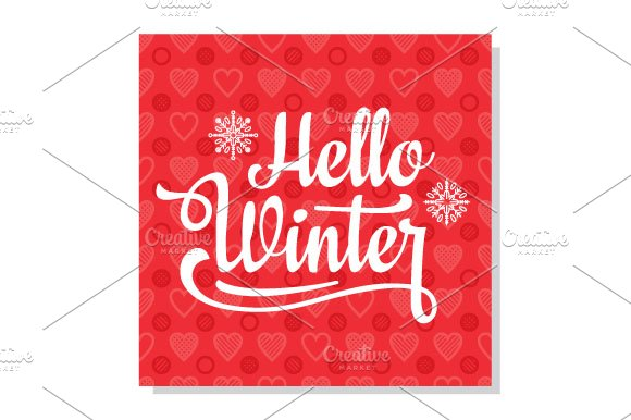 Hello winter. Holiday message - Objects