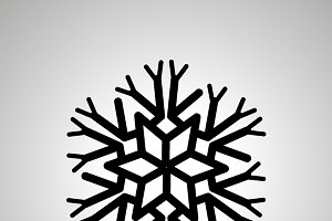 Complicated snowflake black icon