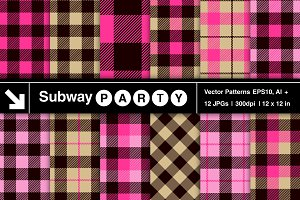 Vector Lumberjill Plaid Patterns