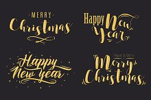 Christmas lettering compositions