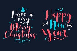 New Year Lettering Composition