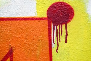 Abstract Dripping Graffiti