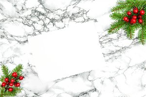 White Paper Sheet Christmas Deco