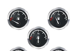 Set of modern fuel indicators