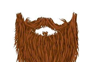 Realistic long brown beard
