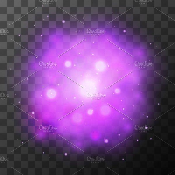 Purple Bright Light, Magic Effect