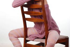 woman in a wool sweater