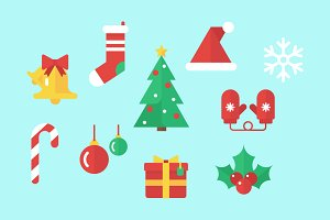 Christmas Vector Flat Clip Art