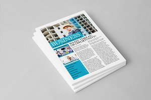 Business Print Newsletter Template