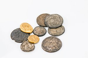 Antique roman coins
